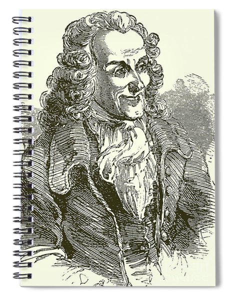 Voltaire, Engraving Spiral Notebook