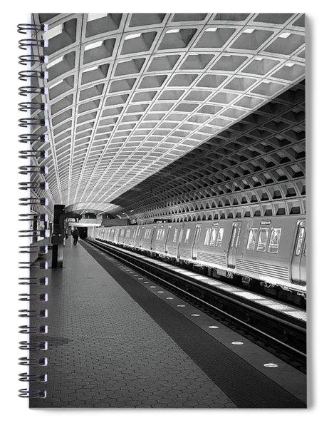 Waiting At Pentagon City Station Spiral Notebook