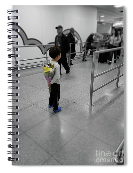 Waiting For Mom At The Airport Spiral Notebook
