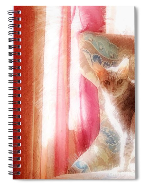 Waiting For Something Spiral Notebook