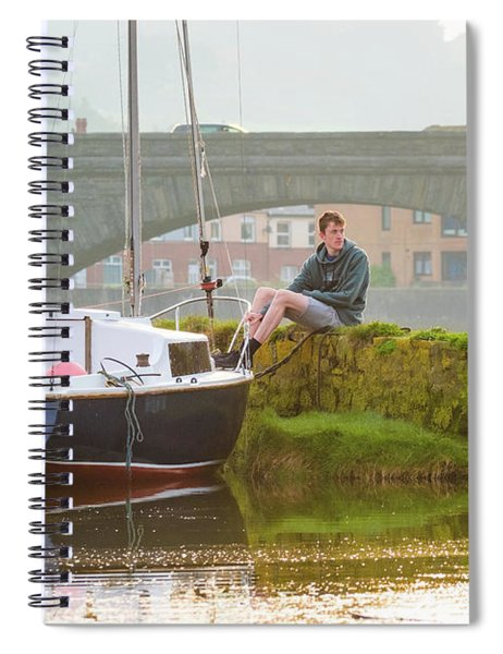 Waiting For The Tide..... Spiral Notebook