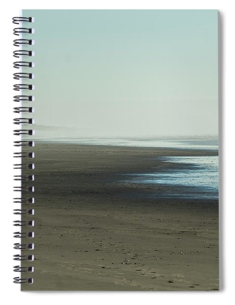 Walking By The Sea Spiral Notebook by Belinda Greb