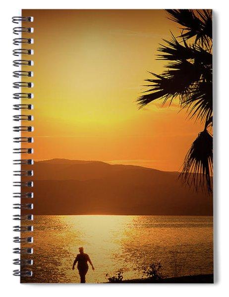 Walking Down The Beach Spiral Notebook