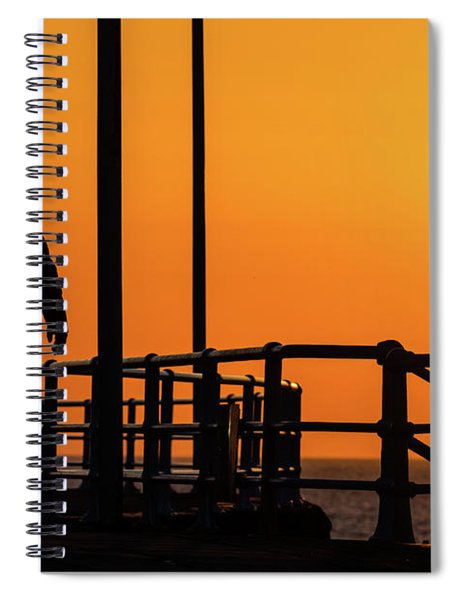 Walking Into The Sunset Spiral Notebook