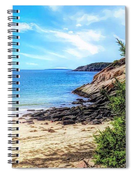 Walking On Sand Beach,maine. Spiral Notebook