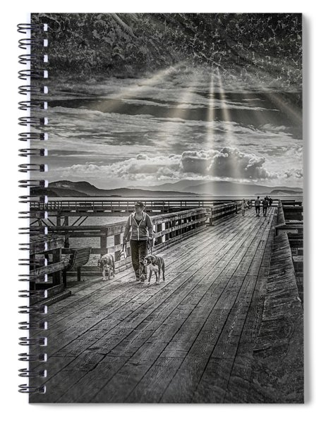 Walking The Dock Spiral Notebook