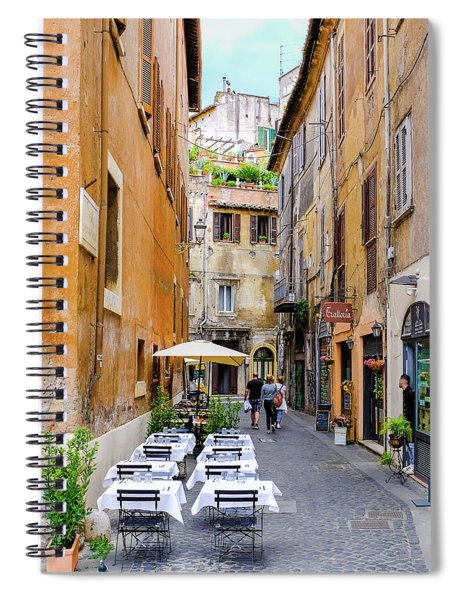 Walking The Cobblestone Streets Of Sorrento Italy Spiral Notebook