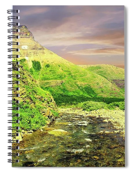 Walking The Swift Current River Spiral Notebook
