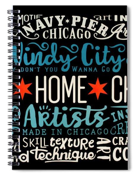 Wall Art Chicago Spiral Notebook