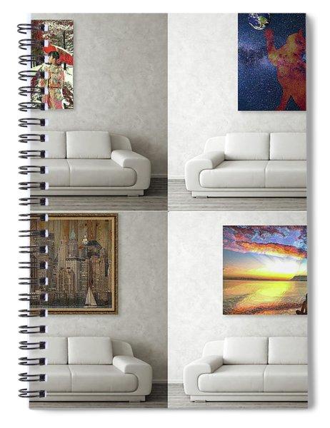 Wall Art Samples Spiral Notebook