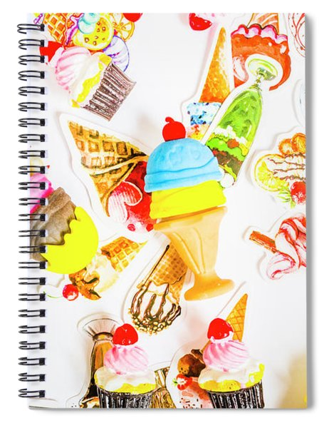 Wall Of Sweetness Spiral Notebook