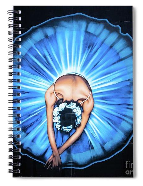 Ballerina Wall Painting, Christchurch, New Zealand Spiral Notebook
