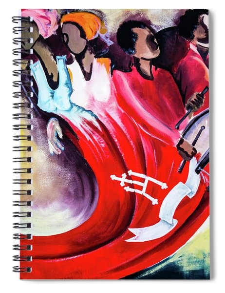 Wall Painting In Fogo, Cape Verde Spiral Notebook