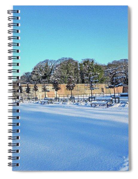 Walled Garden In The Snow Spiral Notebook