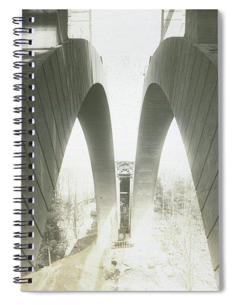 Walnut Lane Bridge Under Construction Spiral Notebook