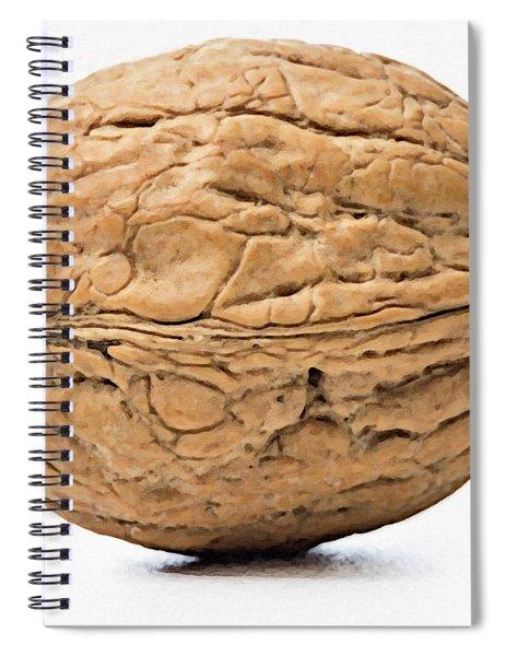Walnut White Background Spiral Notebook