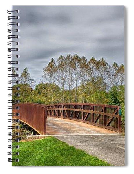 Walnut Woods Bridge - 3 Spiral Notebook