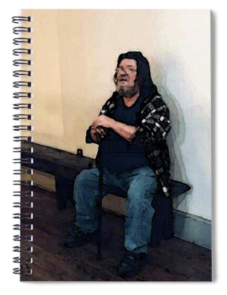 Walt Sitting Spiral Notebook