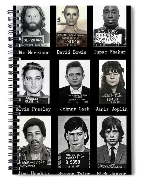 Wanted Rebels Of The Music Industry Spiral Notebook