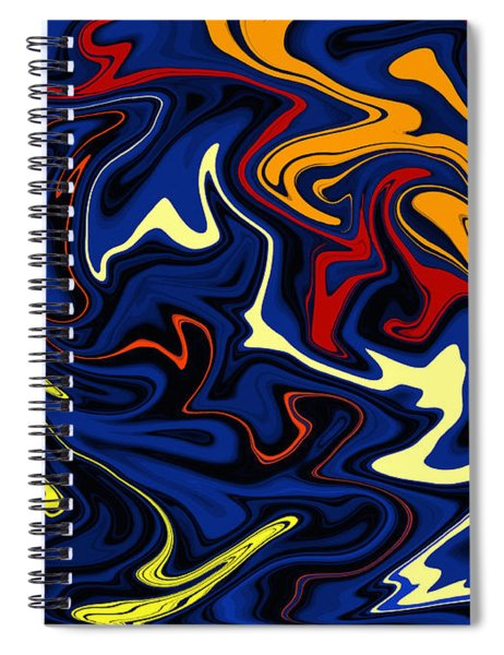 Warped Wet Paint Abstract In Comic Book Colors Spiral Notebook by Shelli Fitzpatrick