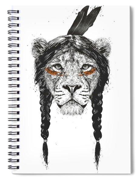 Warrior Lion Spiral Notebook
