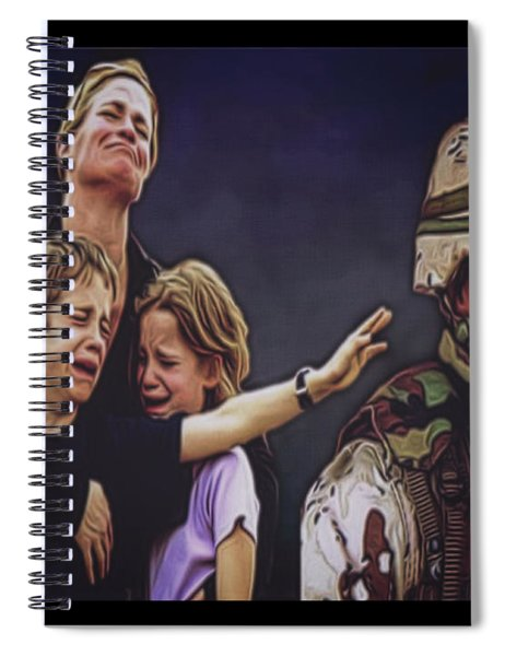 Wartime Suffering Of U.s. Military Families Spiral Notebook