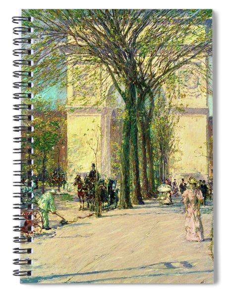 Washington Arch, Spring - Digital Remastered Edition Spiral Notebook