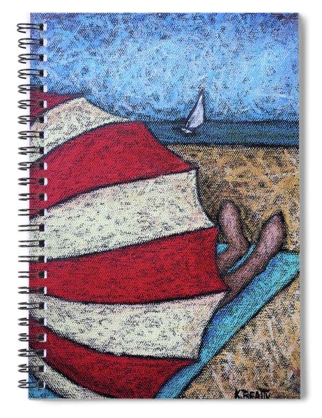 Watching The Sail Spiral Notebook