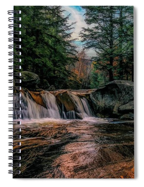 Water Fall Grafton Notch State Park,western Maine. Spiral Notebook