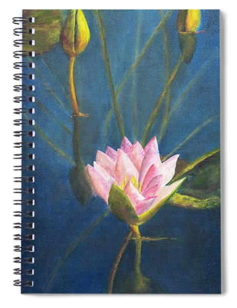 Water Lily Spiral Notebook