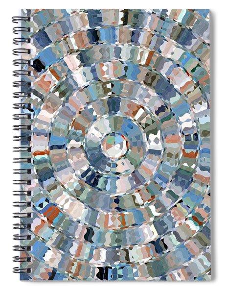 Water Mosaic Spiral Notebook