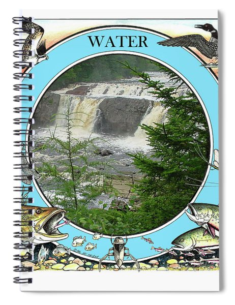 Water - The Circle Of Life Spiral Notebook