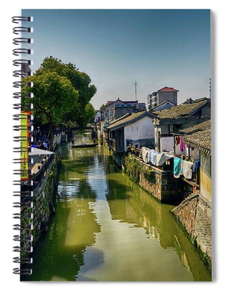 Water Village Spiral Notebook