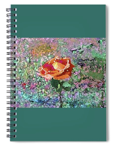 Watercolor Rose 1011 Spiral Notebook