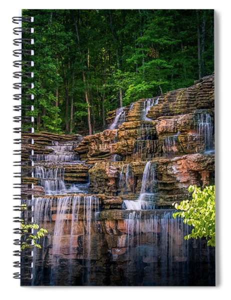 Waterfall At Top Of The Rock Spiral Notebook by Allin Sorenson