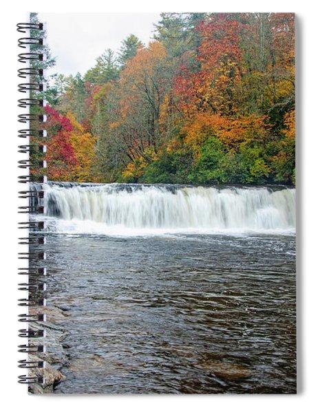 Waterfall In Autumn Spiral Notebook