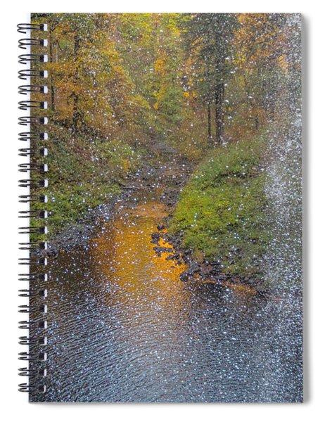 Waterfall Waterdrops Spiral Notebook