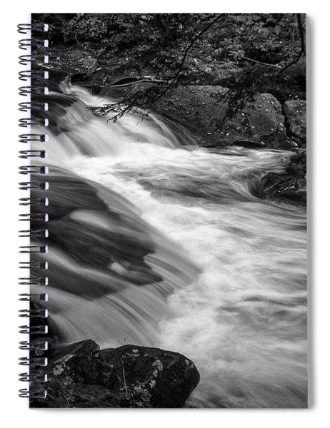 Waterfalls At Ricketts Glenn Spiral Notebook by Louis Dallara