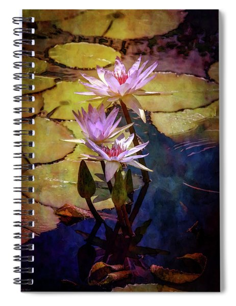Waterlily Bouquet 2922 Idp_6 Spiral Notebook