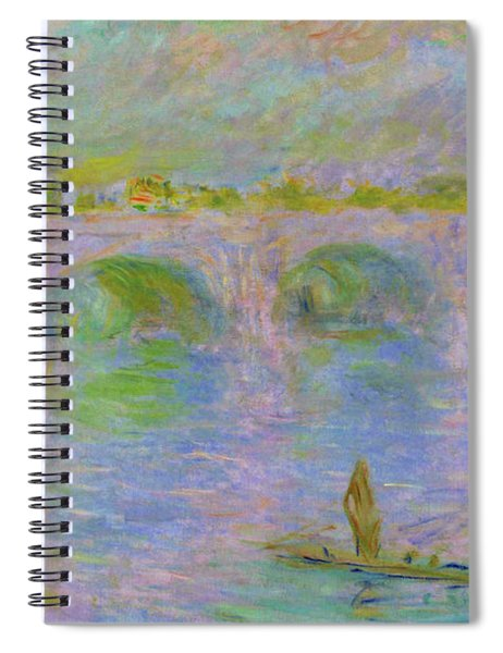 Waterloo Bridge In London - Digital Remastered Edition Spiral Notebook