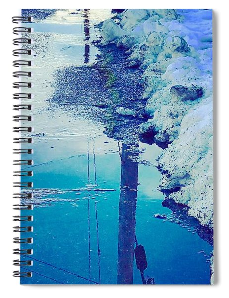 Waters In Snow Spiral Notebook