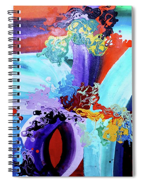 Watery Waves Spiral Notebook