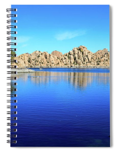 Watson Lake And Rock Formations Spiral Notebook