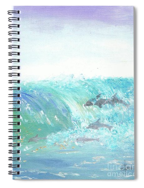 Wave Front Spiral Notebook