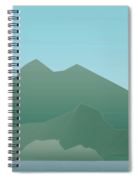 Wave Mountain Spiral Notebook