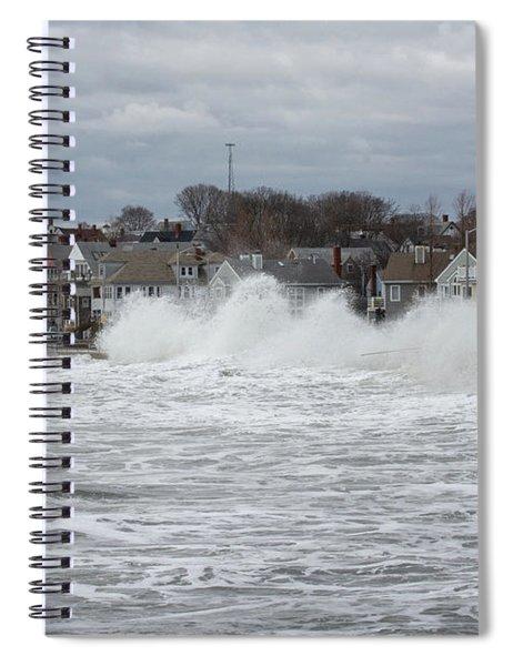 Wave Peaks Spiral Notebook