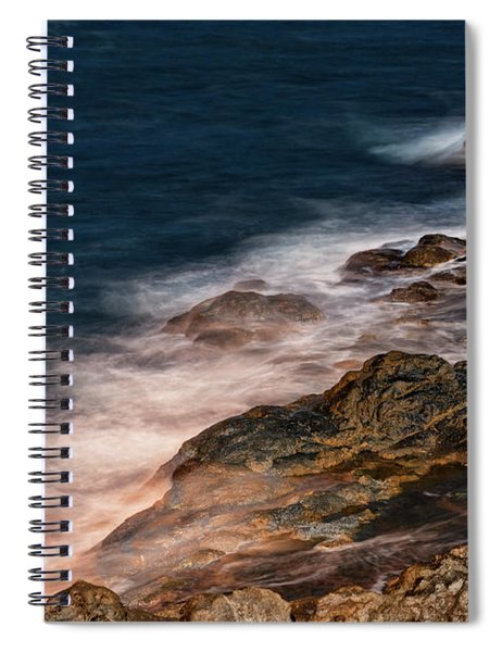 Waves And Rocks At Sozopol Town Spiral Notebook