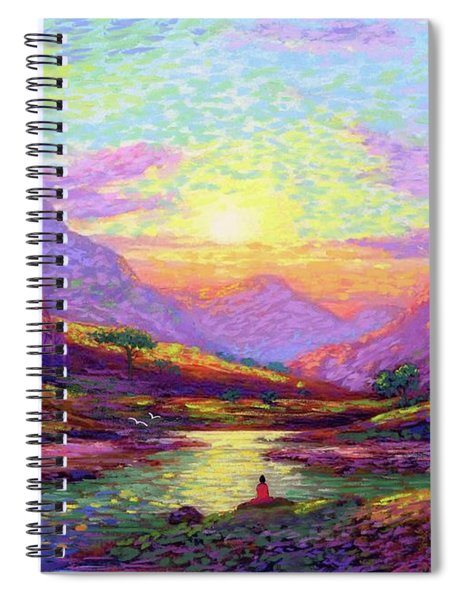 Waves Of Illumination Spiral Notebook
