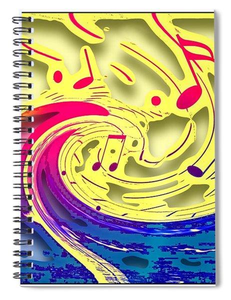 Waves Of Music 3d Spiral Notebook