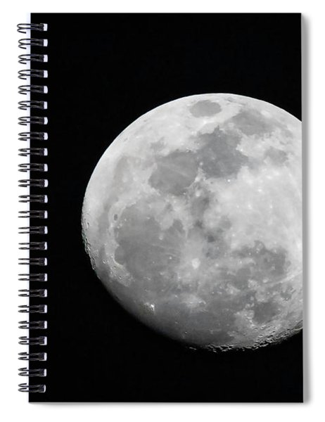 Waxing Gibbous Spiral Notebook